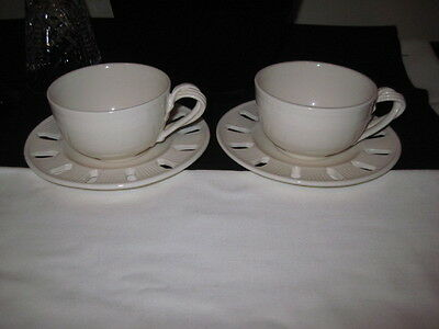 HARTLEY GREENS - Co LEEDS POTTERY TEA CUP AND SAUCER Set of 2