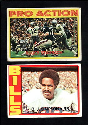 1972 Topps Football ROOKIES - STAR CARD LOT LOT 5-10 DIFFERENT