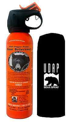 UDAP  Pepper Power Bear Spray  Repellant w Holster  12VHP