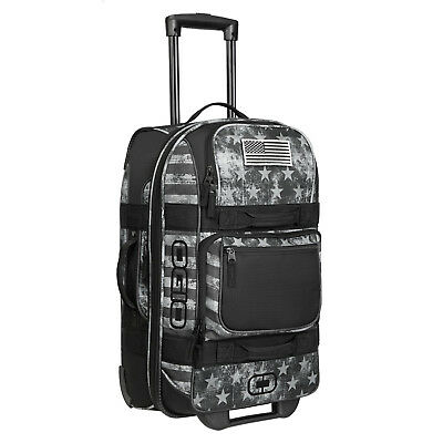 OGIO Layover Durable Carry On Suitcase Travel Luggage Bag with Wheels Black Ops
