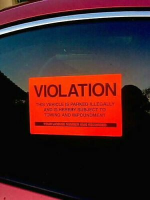 QTY 50 BEST DEAL VIOLATIONS NO ILLEGAL PARKING WARNING VIOLATION SIGN STICKERS
