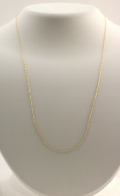 New 14K Yellow Gold -8 mm 18 Inch Rope Pendant Chain Necklace