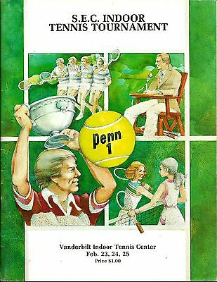 1979 SEC Indoor Tennis Tournament Program