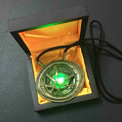 US Stock 11 H-Q Light Dr Doctor Strange Pendant Eye Of Agamotto Necklace Prop