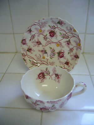 1 COPELAND SPODE - ROSEBUD CHINTZ CHINA -CUP AND SAUCER
