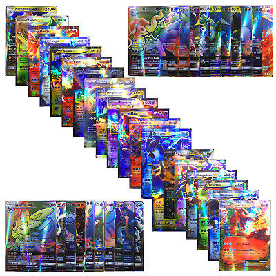 New Pokemon TCG  100 FLASH CARD LOT RARE 20 GX -80 EX FUSION CARDS NO REPEAT