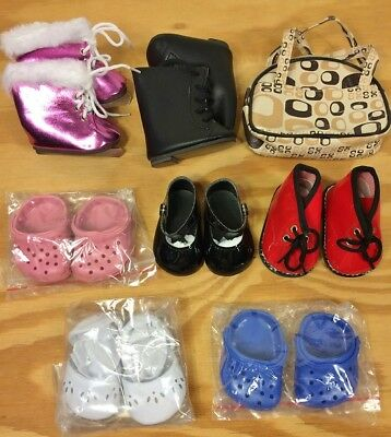 8 PC Lot Doll Shoes fits American Girl 18 Dolls Boots Skates Sandals New 551