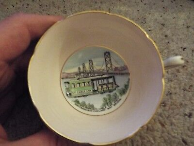Royal Grafton Fine Bone China Tea Cup San Francisco Cable Car - Bay Bridge