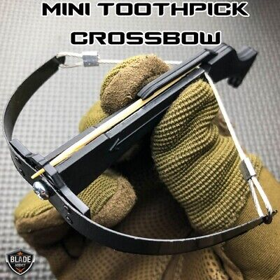 DELUXE Toothpick Crossbow Working Desk Ornament Toy FAST US SELLER BLACK NEW