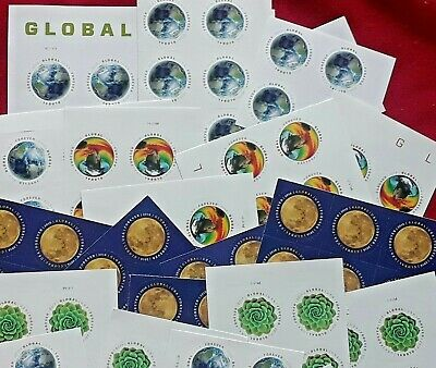 Combo two sheets of THE MOON - GREEN SUCCULENT Global Forever US Postage Stamps