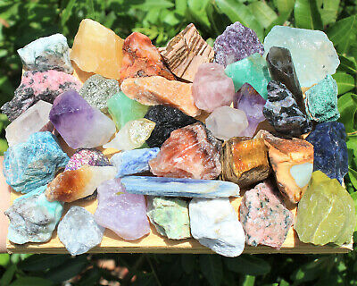 12 lb Lot Bulk Crafters Gems Crystals Natural Rough Crafters Gemstones 8 oz