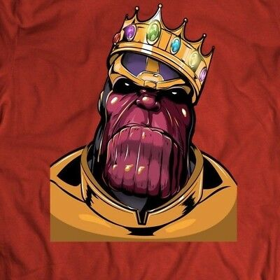 MARVELS THANOS BIGGIE SMALLS MASH UP COMIC ART Shirt FULL FRONT