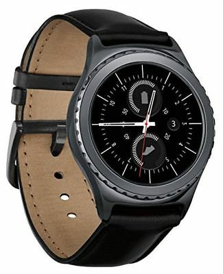 Samsung Gear S2 Classic Verizon Android Smartwatch w SMALL Leather Band Black