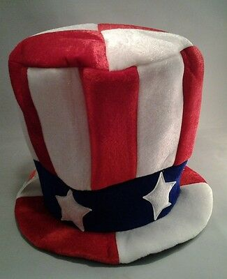 Uncle Sam Top Hat Fourth of July Patriotic Red White - Blue Adult One Size