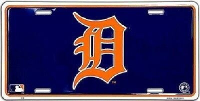 Detroit Tigers MLB Team Color License Plate