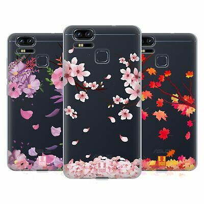 HEAD CASE DESIGNS BLOSSOMS AND LEAVES SOFT GEL CASE FOR ASUS ZENFONE PHONES