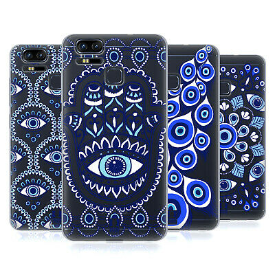 HEAD CASE DESIGNS BLUE EYE PATTERNS SOFT GEL CASE FOR ASUS ZENFONE PHONES