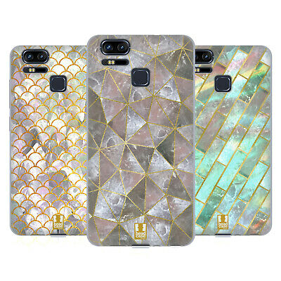 HEAD CASE DESIGNS CLASSY CAPIZ PRINTS SOFT GEL CASE FOR ASUS ZENFONE PHONES