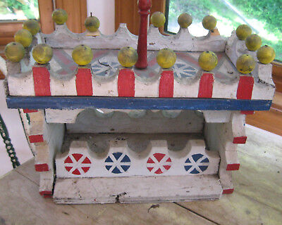 AMAZING OLD WOODEN FOLK ART CIRCUS WAGON EXCELLENT FORM DETAIL AAFA NR