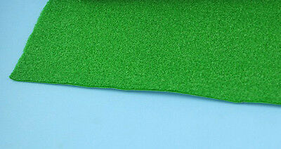 Self Adhesive Sheet of Faux Green Grass for Dollhouses and Scale Models WCAC36