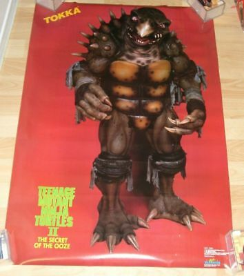 1991 TEENAGE MUTANT NINJA TURTLES POSTER TOKKA SEALED MINT CONDITION