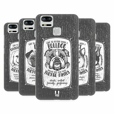 HEAD CASE DESIGNS HAND DRAWN DOG BREEDS HARD BACK CASE FOR ASUS ZENFONE PHONES