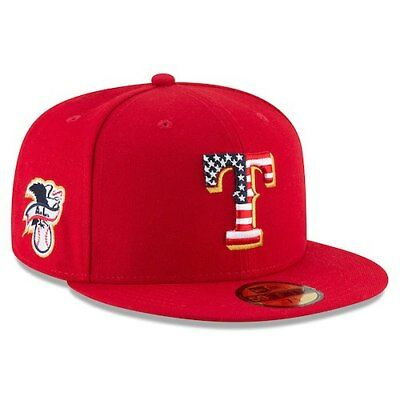 Texas Rangers New Era 2018 Stars - Stripes 4th of July On-Field 59FIFTY Fitted