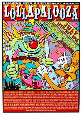 LOLLAPALOOZA 2016 Music Festival Lineup poster print home decor Choose Size