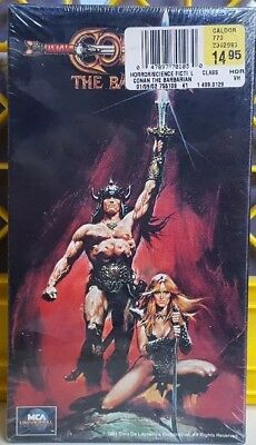 Arnold Schwarzenegger-Conan The Barbarian VHS SEALED ACTION MCAUniversal 77010