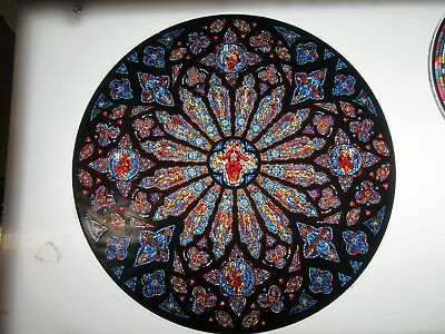 Glassmasters Cathedral of St- John the Divine NYC rose  window 6-5 inches