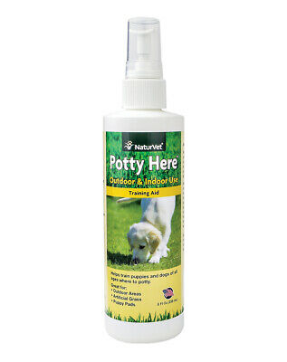 NaturVet POTTY HERE Training Aid Dog and Puppy OutdoorIndoor Spray 8 oz