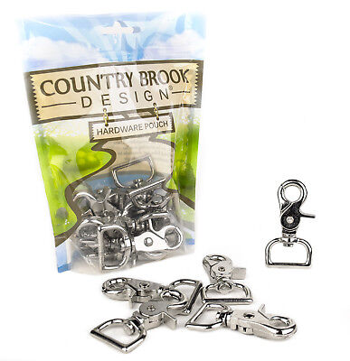 10 - Country Brook Design® 1 Inch Trigger Swivel Snap Hooks