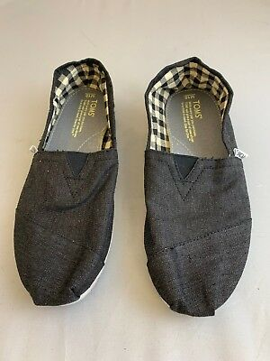 Toms Grey Slip On Shoes Size 10 M