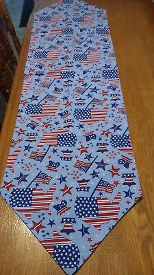 4th Of July Memorial Day Patriotic Table Runner
