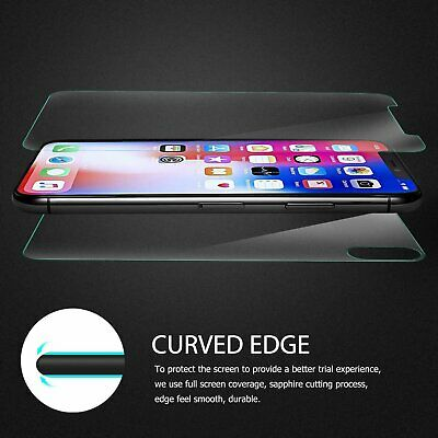 Front -Back Tempered Glass Screen Protector For Apple iPhone X XR XS MAX
