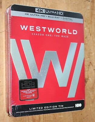 WESTWORLD SEASON ONE THE MAZE 4K Ultra HD Blu-ray Digital LIMITED TIN NEW SEALED