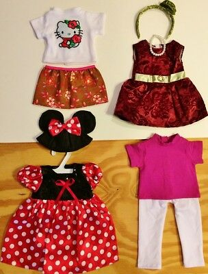 Doll Clothes LOT Fits 18 American Girl 4 Outfits 33 C  Minnie Mouse Tops Pants