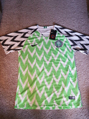 NEW Nike Nigeria Soccer Home World Cup 2018 Jersey with Tags Medium size