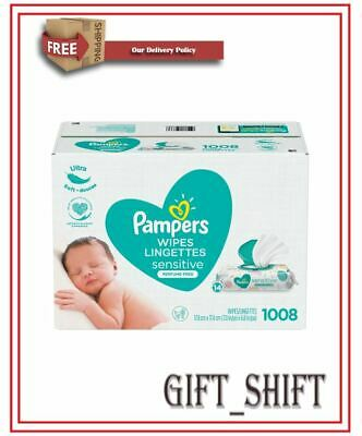 Genuine-PAMPERS Sensitive Baby Wipes 1024ct- Brand New