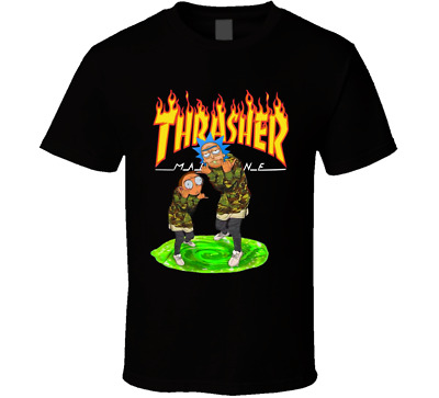Rick and Morty Thrasher T-Shirt Mens BLACK Colour Tee New Unbranded KIDS - ADULT