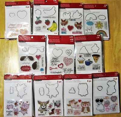Valentines Day Cute Stamp and Die Sets by Recollections - Pick 1 of 11 NEW