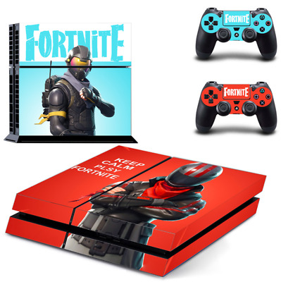 NEW Fortnite Battle Royale Skin For ps4 Console and 2 Controllers Decal
