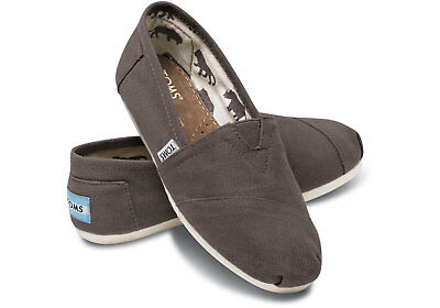 TOMS Mens Classics Ash Canvas Grey Slip On Loafer Shoes