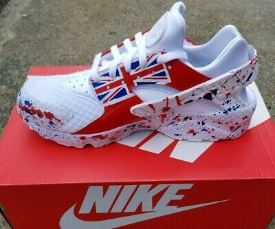 Nike Huarache Custom Red White and Blue sneakers Trainers Cyber Monday Sale