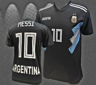 Argentina Negra Black Messi World Cup Jersey 2018-2019