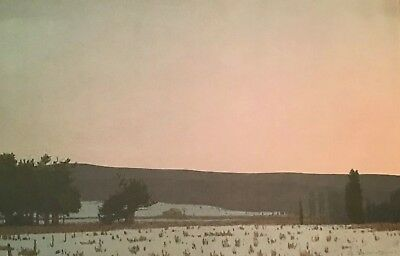 Russell Chatham Original Lithograph Winter Dawn South Park Yellowstone Signed d