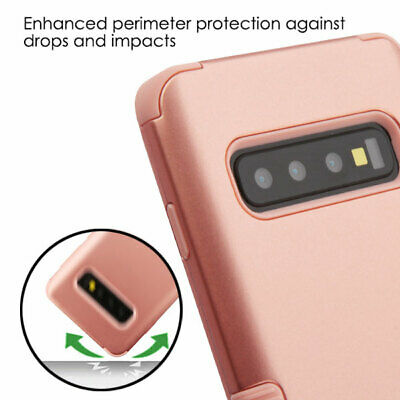 Samsung Galaxy S10- PLUS - ROSE GOLD Hybrid Armor Shockproof Phone Case Cover