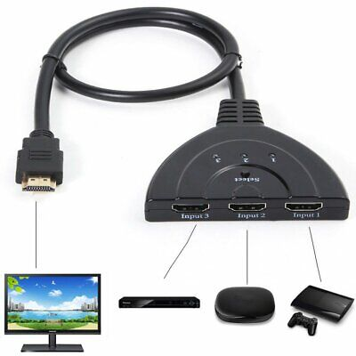 3 Port HDMI Splitter Cable 1080P Switch Switcher HUB Adapter for HDTV PS4 Xbox
