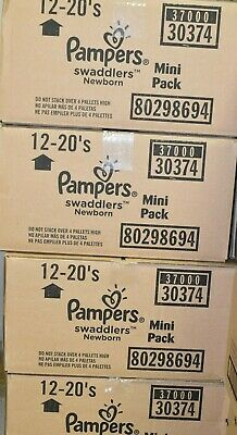 JUMBO 240 BOX Pampers Swaddlers Size Newborn - 240 pack 12packs of 20each pack