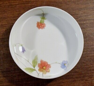 4 Mikasa JUST FLOWERS 6-12 Soup Bowls EXCELLENT